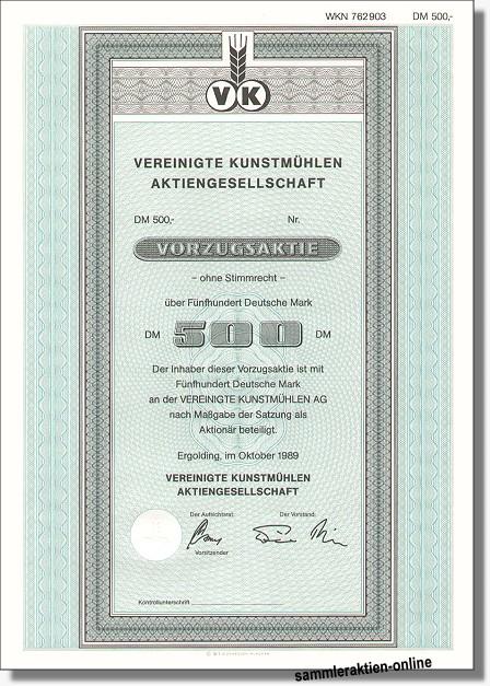 Vereinigte Kunstmühlen AG