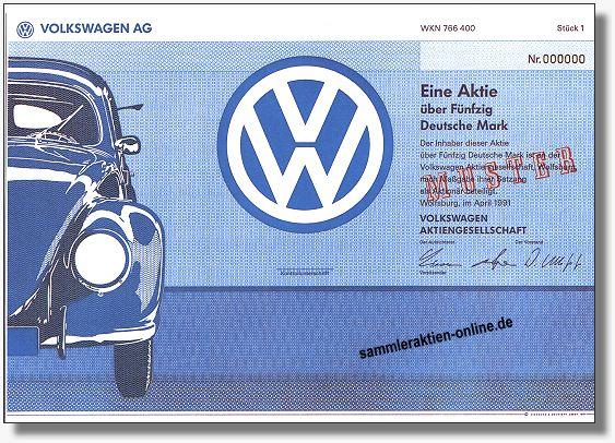 Volkswagen AG - VW Musteraktie