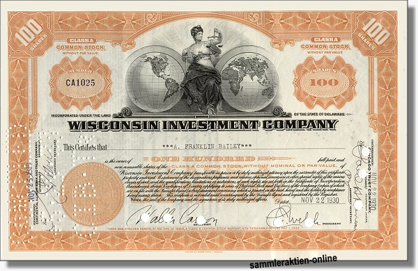 Wisconsin Investment Company