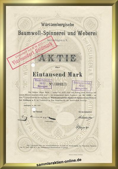 Württembergische Baumwoll-Spinnerei und Weberei